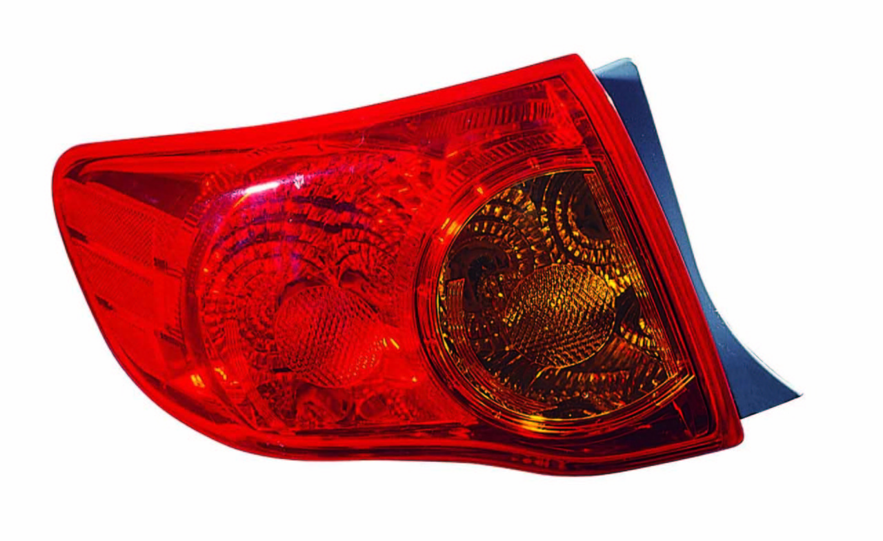Toyota Corolla sedan 2009 2010 tail light outer left driver