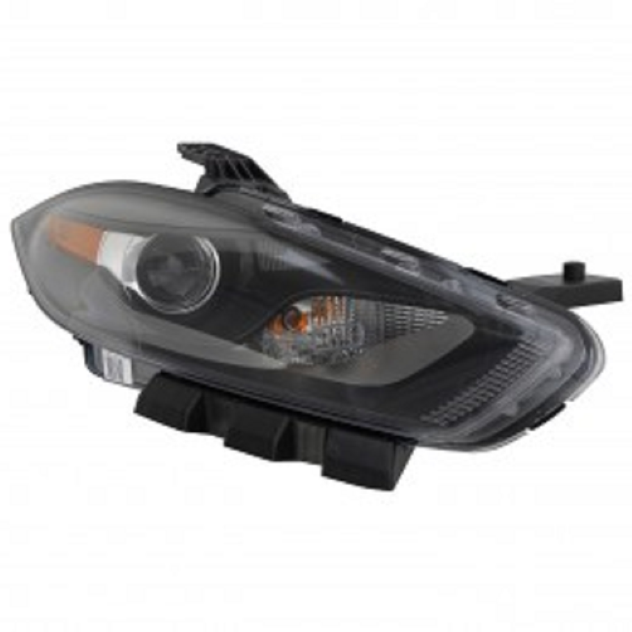 Dodge Dart 2013 2014 2015 right passenger HID headlight with black trim