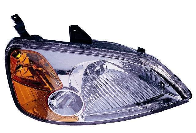 Honda Civic Sedan 2001 2002 2003 right passenger headlight