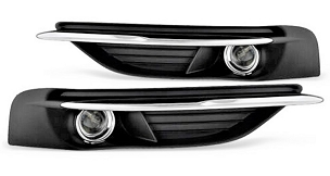 Chrysler 200 2011 2012 2013 2014 fog lights right and left with grille cover and wiring kit