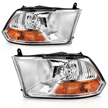 Dodge RAM 1500/2500/3500 2010 2011 2012 2013 2014 2015 pair right & left headlights (no quad lamp)