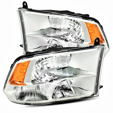 Dodge RAM 1500/2500/3500 2010 2011 2012 2013 2014 2015 pair right & left headlights (quad lamp)